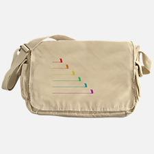 Rainbow Birds in Flight Messenger Bag