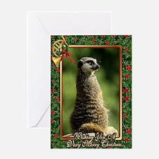 Meerkat Christmas Card Greeting Card