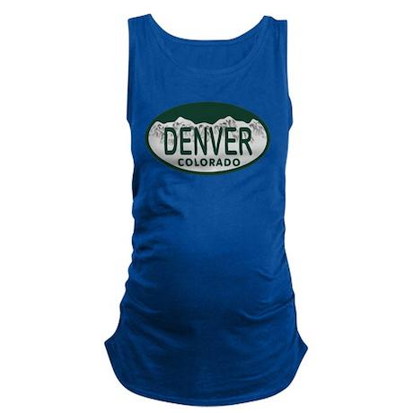 Denver Colo License Plate Maternity Tank Top