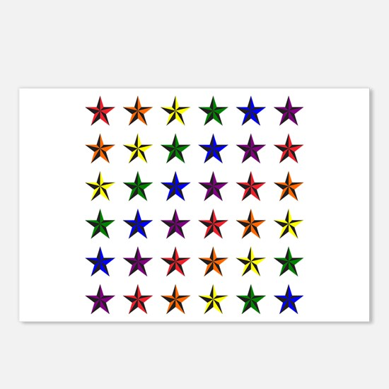 Pride Star Square Postcards (Package of 8)