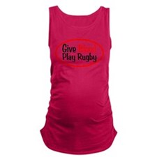 Give Blood_Rugby.png Maternity Tank Top