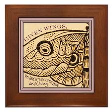 Wings Framed Tile