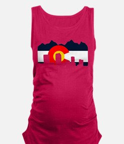 CO_Flag2_Navy.png Maternity Tank Top
