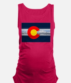 CO_Flag_Mountain.png Maternity Tank Top