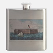 Fort Sumter - Charleston Harbor, S.C. - 1870 Flask