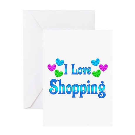 I Love Shopping Greeting Card