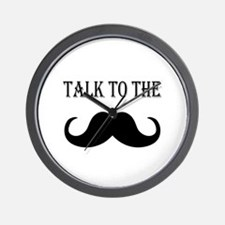 Talk to the Stache Wall Clock