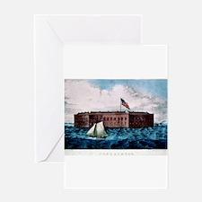 Fort Sumter - Charleston Harbor, S.C. - 1870 Greet