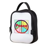 Abstract Peace Sign Neoprene Lunch Bag