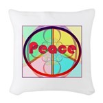 Abstract Peace Sign Woven Throw Pillow