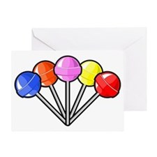 colorful lollipops Greeting Card