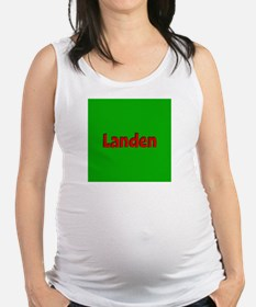 Landen Green and Red Maternity Tank Top