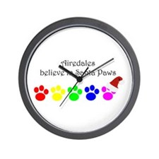 Airedales Believe Wall Clock