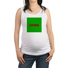 Lorena Green and Red Maternity Tank Top