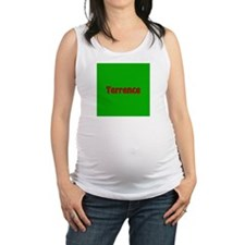 Terrence Green and Red Maternity Tank Top
