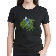 Blue Budgie on Green Tee