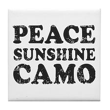 Peace Sunshie Camo Tile Coaster