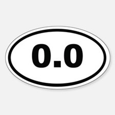 0.0 Miles Decal