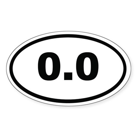 0.0 Miles Sticker