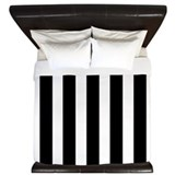 Black and white striped Luxe King Duvet Cover
