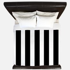 Sleek black and white stripes King Duvet