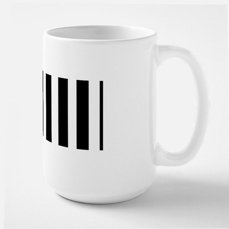 Sleek black and white stripes Mug