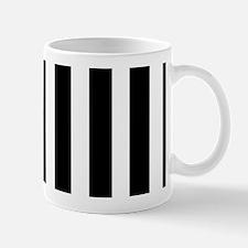 Sleek black and white stripes Small Small Mug