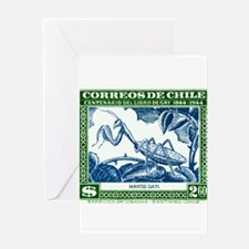 Antique 1948 Chile Praying Mantis Postage Stamp Gr