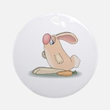 Cute Pink Bunny and Carrot Ornament (Round)