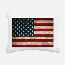 American Flag Rectangular Canvas Pillow