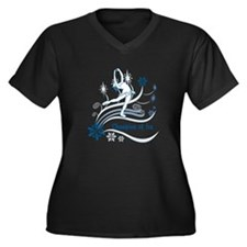 Personalized Ice Skater Women's Plus Size V-Neck D