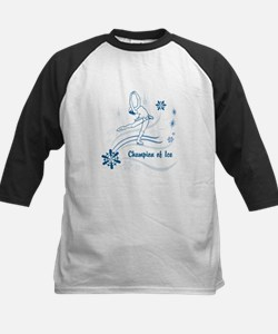 Personalized Ice Skater Kids Baseball Jersey