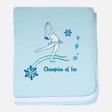 Personalized Ice Skater baby blanket