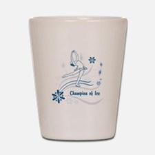 Personalized Ice Skater Shot Glass