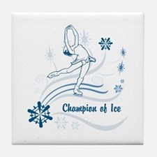 Personalized Ice Skater Tile Coaster