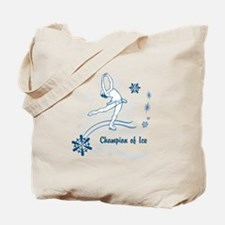 Personalized Ice Skater Tote Bag