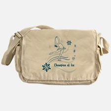 Personalized Ice Skater Messenger Bag