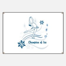 Personalized Ice Skater Banner