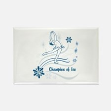 Personalized Ice Skater Rectangle Magnet (10 pack)