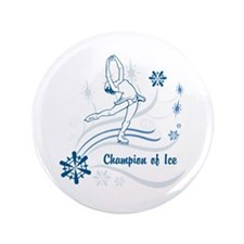 """Personalized Ice Skater 3.5"""" Button"""