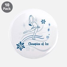 "Personalized Ice Skater 3.5"" Button (10 pack)"