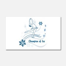 Personalized Ice Skater Car Magnet 20 x 12