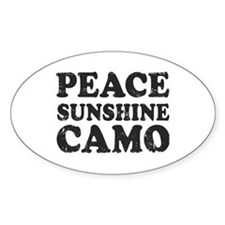 Peace Sunshie Camo Decal