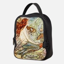 Vintage Mermaid Neoprene Lunch Bag