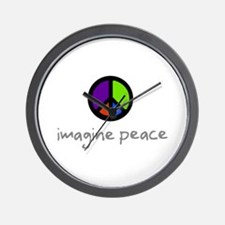 Imagine Peace Blue Glasses Wall Clock