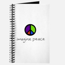 Imagine Peace Blue Glasses Journal