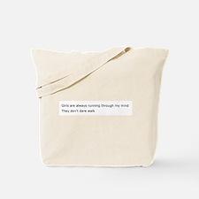 Running Girls Tote Bag