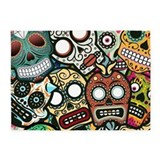 Day of the dead area 5x7 Rugs