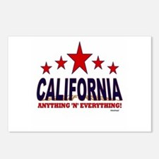 California Anything 'N' E Postcards (Package of 8)