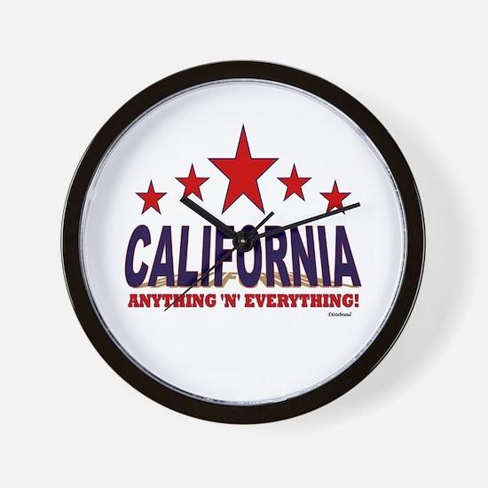 California Anything 'N' Everything Wall Clock